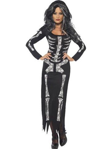 Skeleton Tube Dress - Adult Costume front