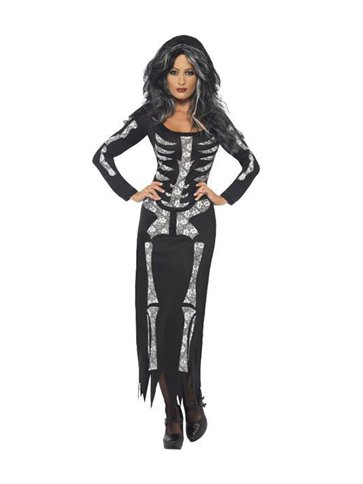 Skeleton Tube Dress - Adult Costume pla