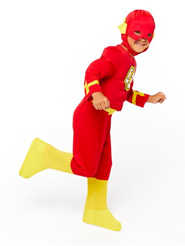 The Flash Deluxe Muscle Chest - Child Costume back