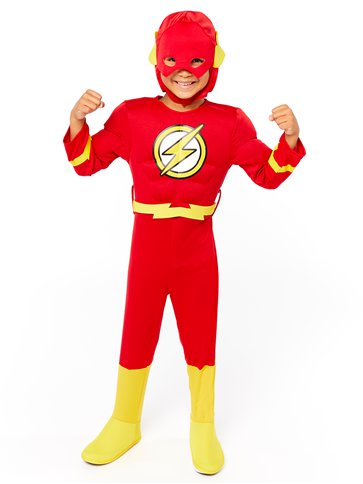 The Flash Deluxe Muscle Chest - Child Costume front