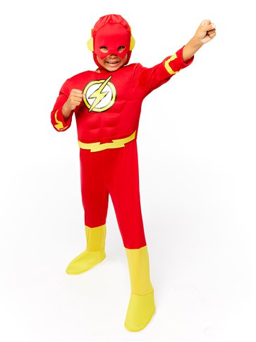The Flash Deluxe Muscle Chest - Child Costume left