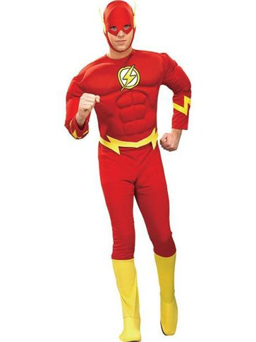 The Flash Deluxe Muscle Chest - Adult Costume front