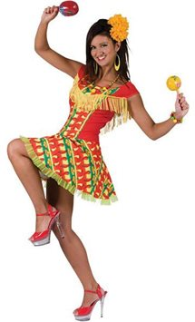 Fiesta Dress - Adult Costume