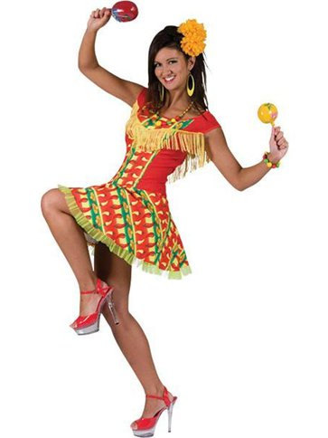 Fiesta Dress - Adult Costume front