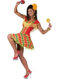 Mexican Lady Dress - Adult Costume