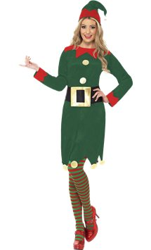 Elf Dress and Hat- Adult Costume