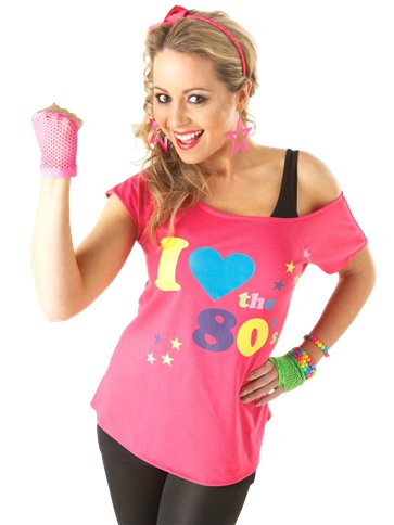 I Love the 80's T-shirt - Adult Costume front