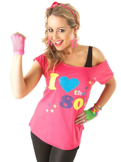 I Love the 80's T-shirt - Adult Costume