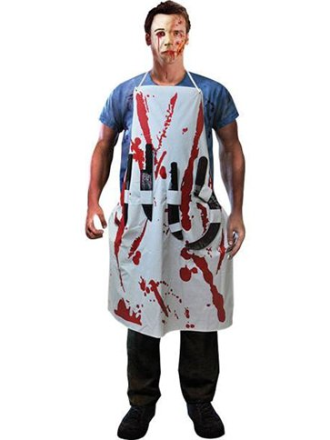 Bleeding Hostel Apron Adult Costume Party Delights
