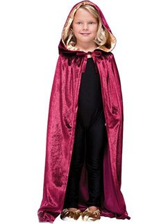 Hooded Velvet Cloak