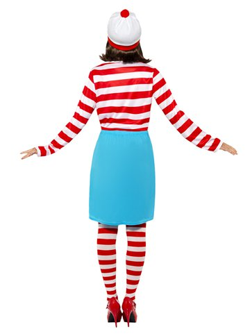 Where's Wally Wenda - Adult Costume back
