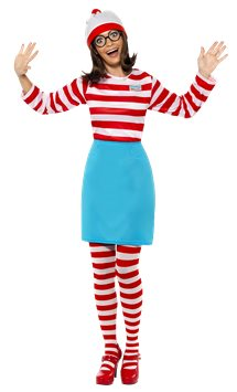 Where's Wally Wenda - Adult Costume
