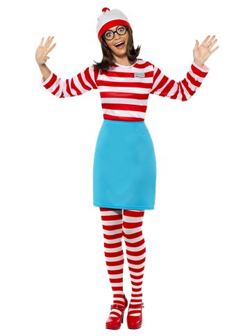 Where's Wally Wenda - Adult Costume front