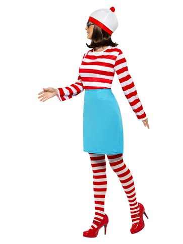 Where's Wally Wenda - Adult Costume left