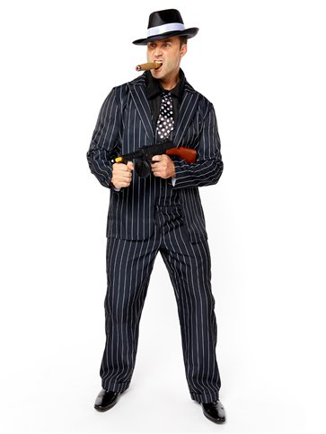 Vintage Gangster Boss - Adult Costume front
