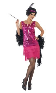 Pink Funtime Flapper - Adult Costume