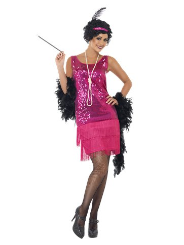 Pink Funtime Flapper - Adult Costume front