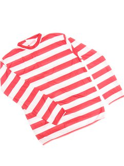 Adult Red & White Striped Top