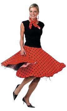 Rock'n'Roll Skirt Red - Adult Costume