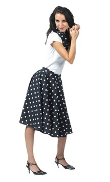 Rock'n'Roll Skirt Black - Adult Costume