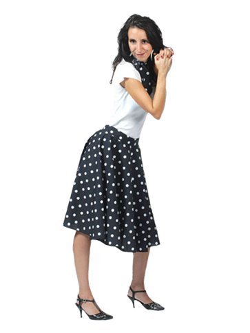 Rock'n'Roll Skirt Black - Adult Costume front