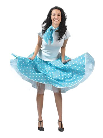 Rock'n'Roll Skirt Blue - Adult Costume front