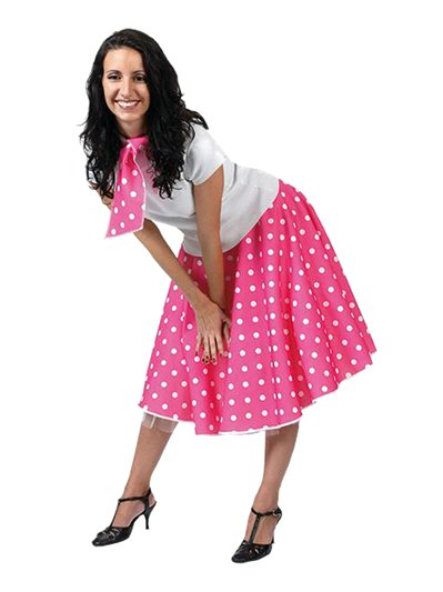 Rock'n'Roll Skirt Pink - Adult Costume