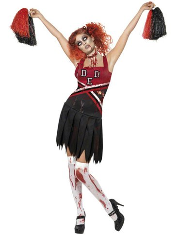Zombie Cheerleader Teen Costume Party Delights