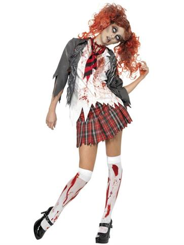 Zombie School Girl - Adult Costume front