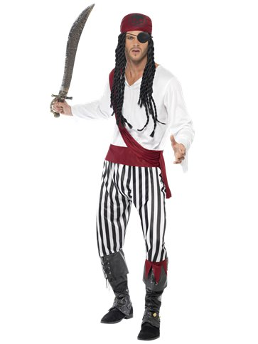 Pirate Man - Adult Costume front