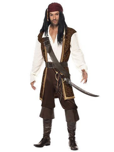 High Seas Pirate - Adult Costume front