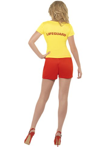 Baywatch Beach - Adult Costume back