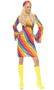 Rainbow Hippie - Adult Costume