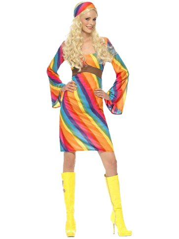 Rainbow Hippie Adult Costume Party Delights