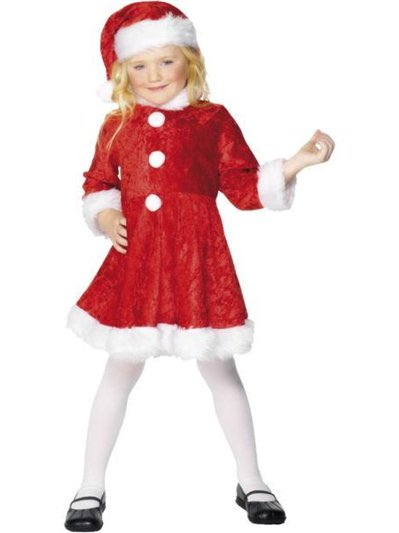 Plush Miss Santa Dress - Child Costume