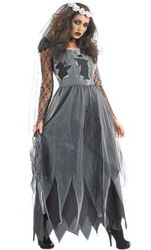 Black Corpse Dress - Adult Costume