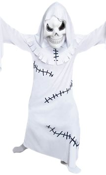 White Ghostly Ghoul - Child Costume