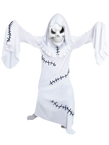 White Ghostly Ghoul - Child Costume front