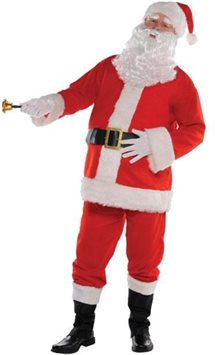 Plush Santa Suit - Adult Costume