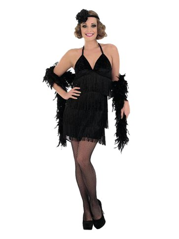 Black Sexy Flapper Dress - Adult Costume front
