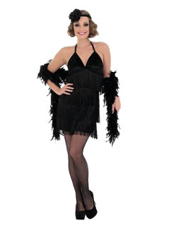Black Sexy Flapper Dress
