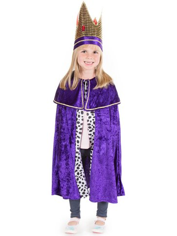 Purple Nativity King - Child Costume front