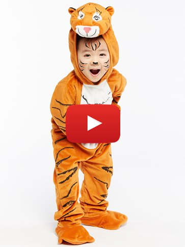 The Tiger Who Came To Tea - Child Costume video