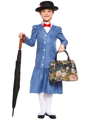 Mary Poppins - Child Costume back