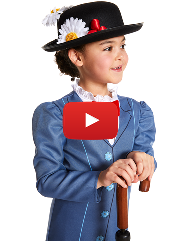 Mary Poppins Child Costume Party Delights