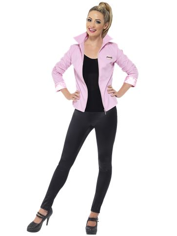 Grease Pink Ladies Jacket Deluxe - Adult Costume front