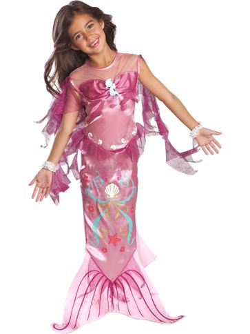 Pink Mermaid - Toddler and Child Costume front