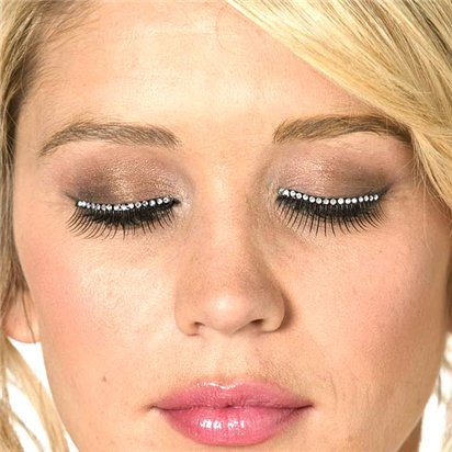 Crystal False Eyelashes - Fancy Dress Costume Accessories left