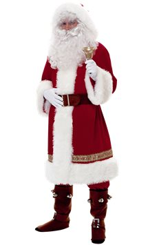 Super Deluxe Old Time Santa - Adult Costume