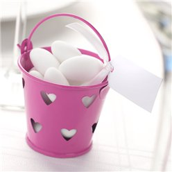 Hot Pink Favour Pails - 6cm